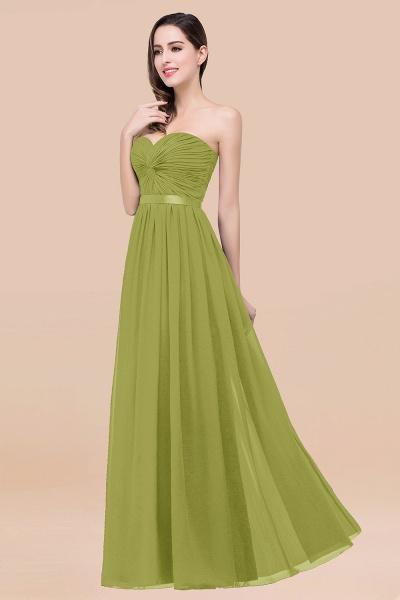 Elegant A-Line Chiffon Sweetheart Sleeveless Floor-Length Bridesmaid Dress with Ribbon_34