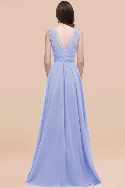 Elegant A-line Chiffon Lace Scoop Sleeveless Floor-Length Bridesmaid Dress_30