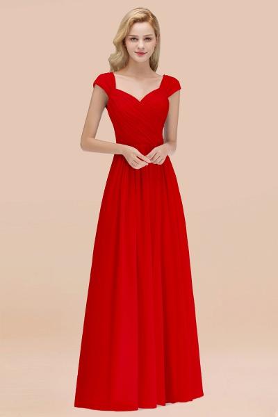 A-Line Chiffon Straps Sweetheart Sleeveless Floor-Length Bridesmaid Dress with Ruffles_8