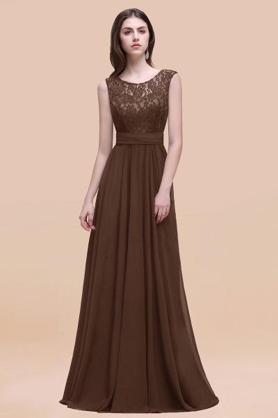 Elegant A-line Chiffon Lace Scoop Sleeveless Floor-Length Bridesmaid Dress_12