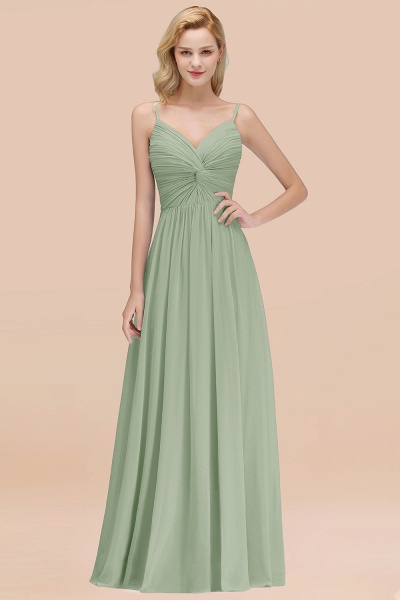 A-Line Chiffon V-Neck Spaghetti Straps Floor-Length Bridesmaid Dresses_41