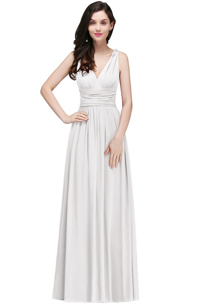Wonderful V-neck Chiffon A-line Evening Dress_1