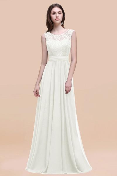 Elegant A-line Chiffon Lace Scoop Sleeveless Floor-Length Bridesmaid Dress_2
