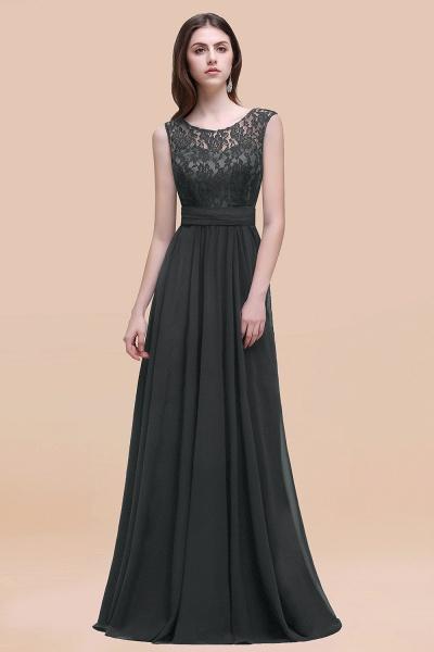 Elegant A-line Chiffon Lace Scoop Sleeveless Floor-Length Bridesmaid Dress_46