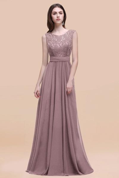 Elegant A-line Chiffon Lace Scoop Sleeveless Floor-Length Bridesmaid Dress_37