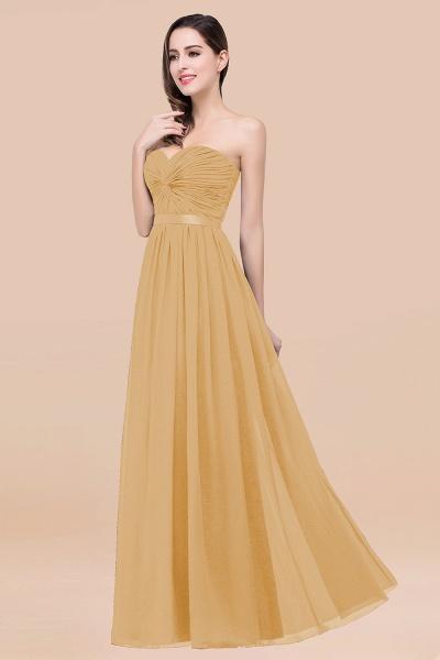 Elegant A-Line Chiffon Sweetheart Sleeveless Floor-Length Bridesmaid Dress with Ribbon_13