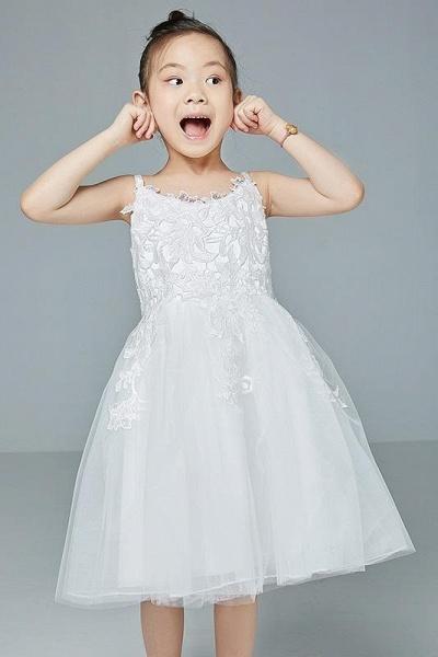V-Neck Sleeveless Ball Gown Flower Girls Dress_1