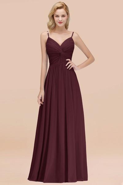 A-Line Chiffon V-Neck Spaghetti Straps Floor-Length Bridesmaid Dresses_47