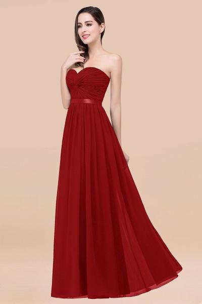 Elegant A-Line Chiffon Sweetheart Sleeveless Floor-Length Bridesmaid Dress with Ribbon_48
