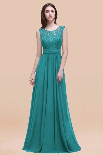 Elegant A-line Chiffon Lace Scoop Sleeveless Floor-Length Bridesmaid Dress_32