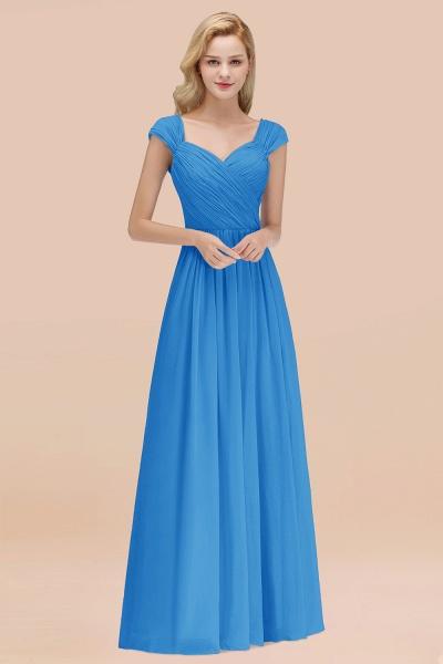 A-Line Chiffon Straps Sweetheart Sleeveless Floor-Length Bridesmaid Dress with Ruffles_25