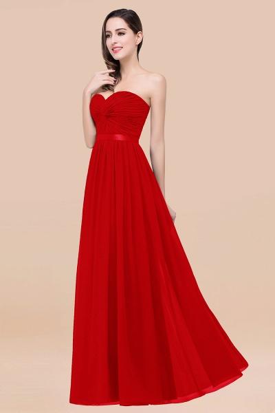 Elegant A-Line Chiffon Sweetheart Sleeveless Floor-Length Bridesmaid Dress with Ribbon_8