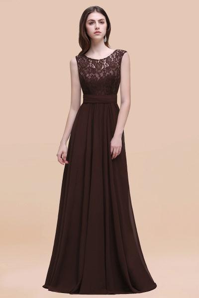 Elegant A-line Chiffon Lace Scoop Sleeveless Floor-Length Bridesmaid Dress_11