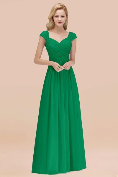 A-Line Chiffon Straps Sweetheart Sleeveless Floor-Length Bridesmaid Dress with Ruffles_49