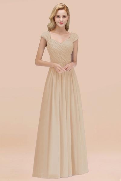 A-Line Chiffon Straps Sweetheart Sleeveless Floor-Length Bridesmaid Dress with Ruffles_14