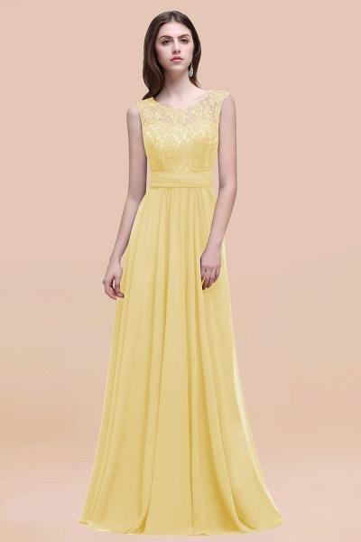Elegant A-line Chiffon Lace Scoop Sleeveless Floor-Length Bridesmaid Dress_18