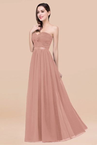 Elegant A-Line Chiffon Sweetheart Sleeveless Floor-Length Bridesmaid Dress with Ribbon_6