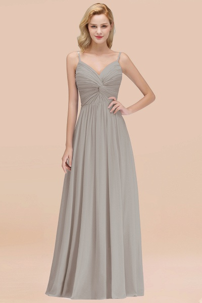 A-Line Chiffon V-Neck Spaghetti Straps Floor-Length Bridesmaid Dresses_30