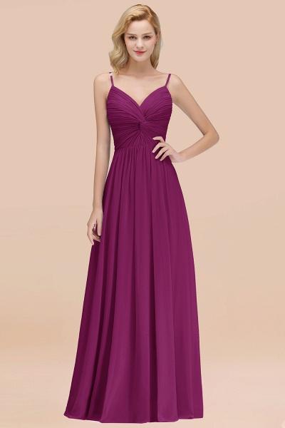 A-Line Chiffon V-Neck Spaghetti Straps Floor-Length Bridesmaid Dresses_42