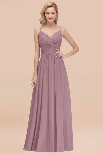 A-Line Chiffon V-Neck Spaghetti Straps Floor-Length Bridesmaid Dresses_43