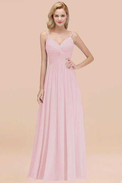 A-Line Chiffon V-Neck Spaghetti Straps Floor-Length Bridesmaid Dresses_3