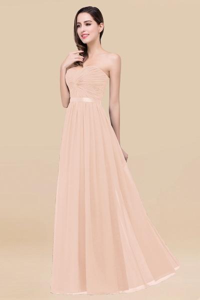 Elegant A-Line Chiffon Sweetheart Sleeveless Floor-Length Bridesmaid Dress with Ribbon_5