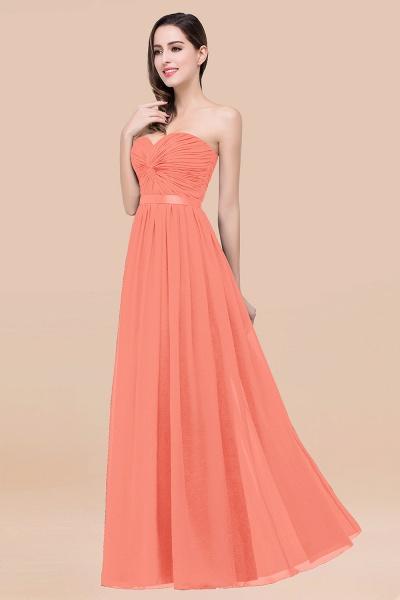 Elegant A-Line Chiffon Sweetheart Sleeveless Floor-Length Bridesmaid Dress with Ribbon_45