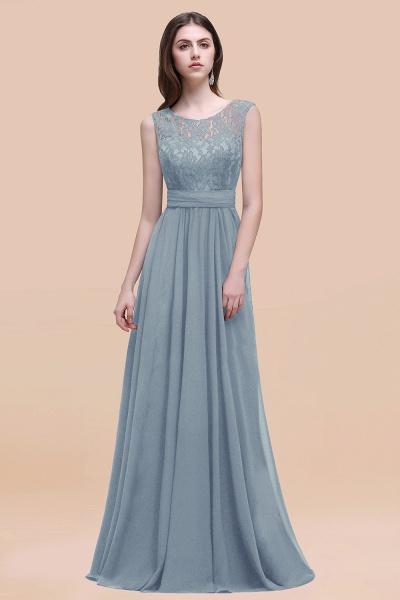 Elegant A-line Chiffon Lace Scoop Sleeveless Floor-Length Bridesmaid Dress_40