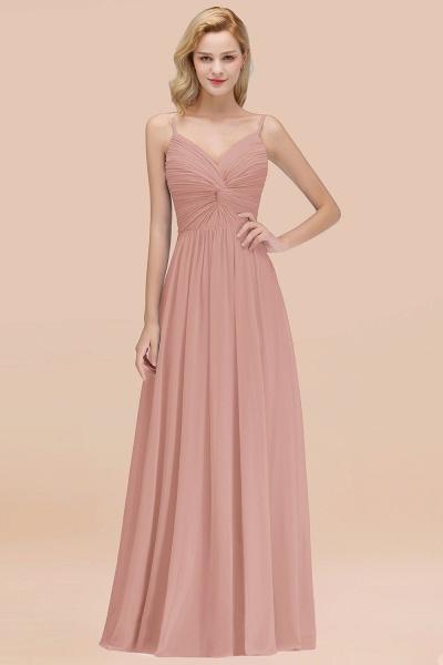 A-Line Chiffon V-Neck Spaghetti Straps Floor-Length Bridesmaid Dresses_6