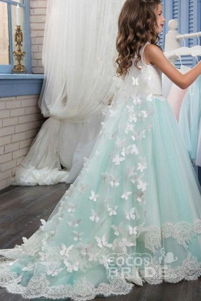 Scoop Neck Sleeveless Ball Gown Flower Girls Dress_4