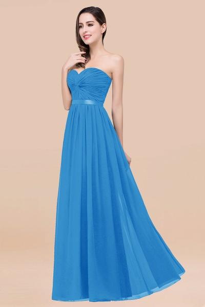 Elegant A-Line Chiffon Sweetheart Sleeveless Floor-Length Bridesmaid Dress with Ribbon_25