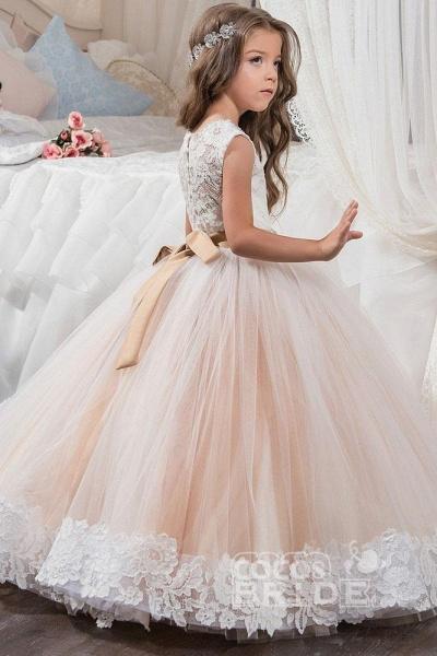 Scoop Neck Sleeveless Ball Gown Flower Girls Dress_2