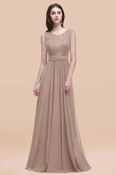 Elegant A-line Chiffon Lace Scoop Sleeveless Floor-Length Bridesmaid Dress_16