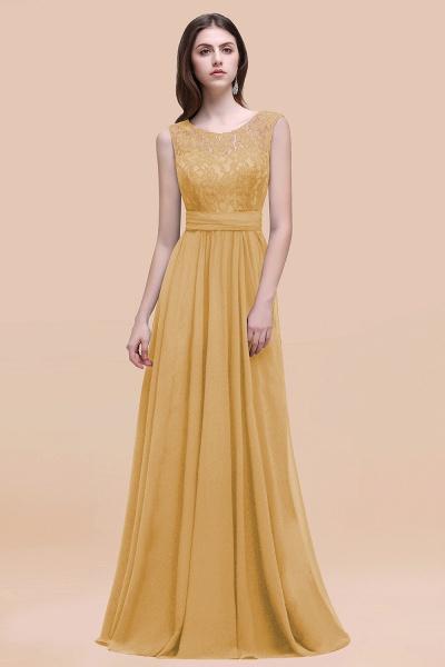 Elegant A-line Chiffon Lace Scoop Sleeveless Floor-Length Bridesmaid Dress_13