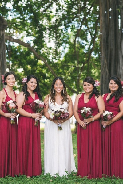Simple Convertible Long A-line Bridesmaid Dresses | Multiway Infinity Dress