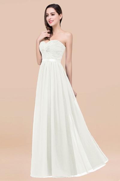 Elegant A-Line Chiffon Sweetheart Sleeveless Floor-Length Bridesmaid Dress with Ribbon_2
