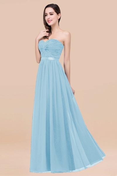 Elegant A-Line Chiffon Sweetheart Sleeveless Floor-Length Bridesmaid Dress with Ribbon_23
