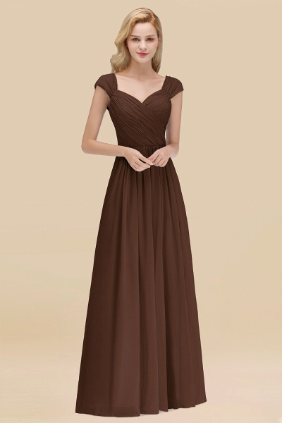 A-Line Chiffon Straps Sweetheart Sleeveless Floor-Length Bridesmaid Dress with Ruffles_12