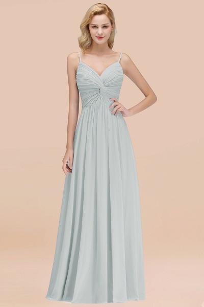 A-Line Chiffon V-Neck Spaghetti Straps Floor-Length Bridesmaid Dresses_38