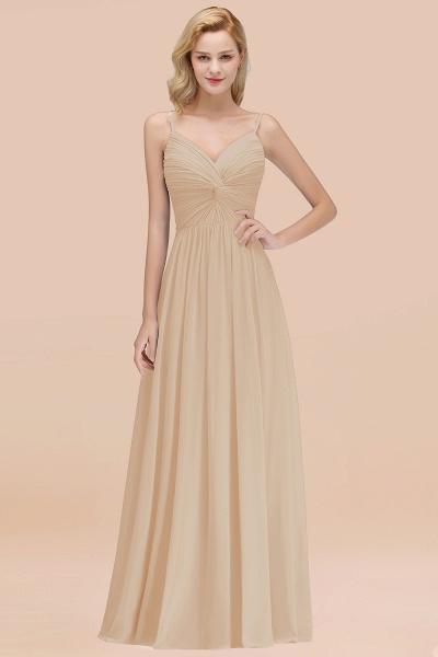 A-Line Chiffon V-Neck Spaghetti Straps Floor-Length Bridesmaid Dresses_14