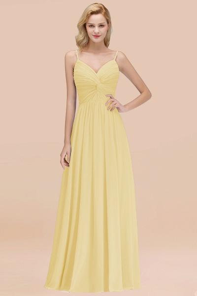 A-Line Chiffon V-Neck Spaghetti Straps Floor-Length Bridesmaid Dresses_18