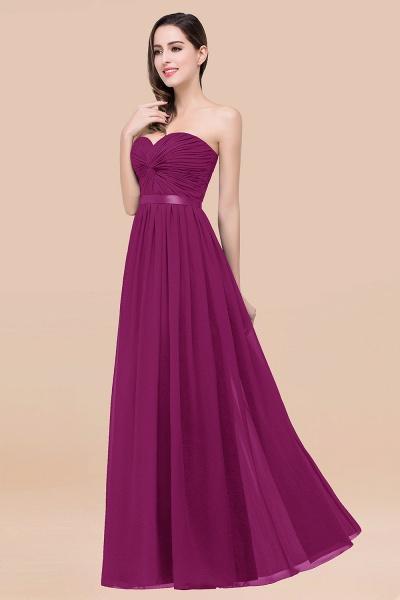Elegant A-Line Chiffon Sweetheart Sleeveless Floor-Length Bridesmaid Dress with Ribbon_42