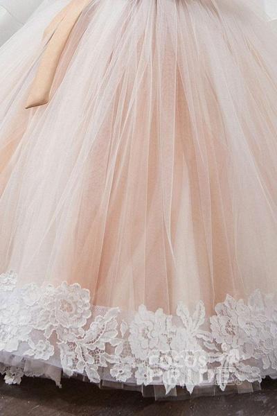 Scoop Neck Sleeveless Ball Gown Flower Girls Dress_5