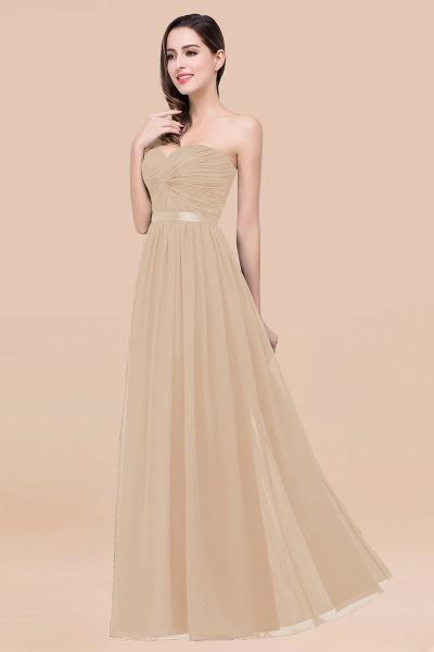 Elegant A-Line Chiffon Sweetheart Sleeveless Floor-Length Bridesmaid Dress with Ribbon_14