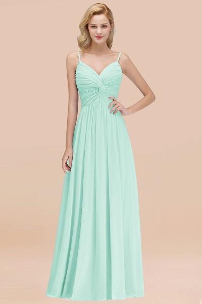 A-Line Chiffon V-Neck Spaghetti Straps Floor-Length Bridesmaid Dresses_36