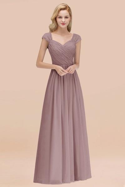 A-Line Chiffon Straps Sweetheart Sleeveless Floor-Length Bridesmaid Dress with Ruffles_37