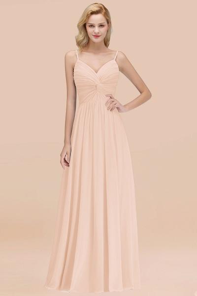 A-Line Chiffon V-Neck Spaghetti Straps Floor-Length Bridesmaid Dresses_5