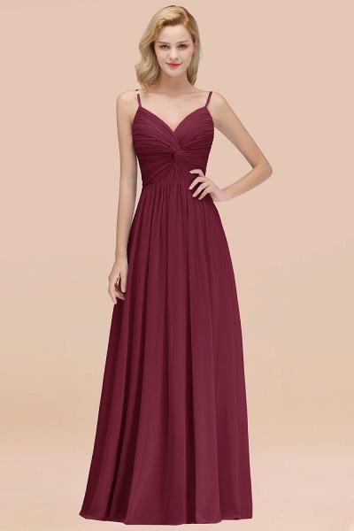 A-Line Chiffon V-Neck Spaghetti Straps Floor-Length Bridesmaid Dresses_10