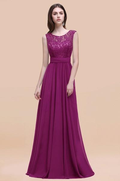 Elegant A-line Chiffon Lace Scoop Sleeveless Floor-Length Bridesmaid Dress_42