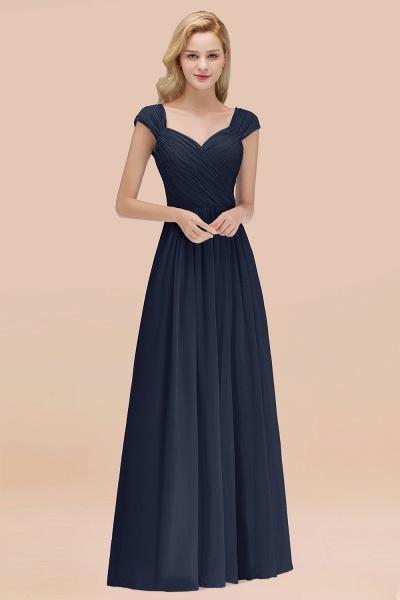 A-Line Chiffon Straps Sweetheart Sleeveless Floor-Length Bridesmaid Dress with Ruffles_28